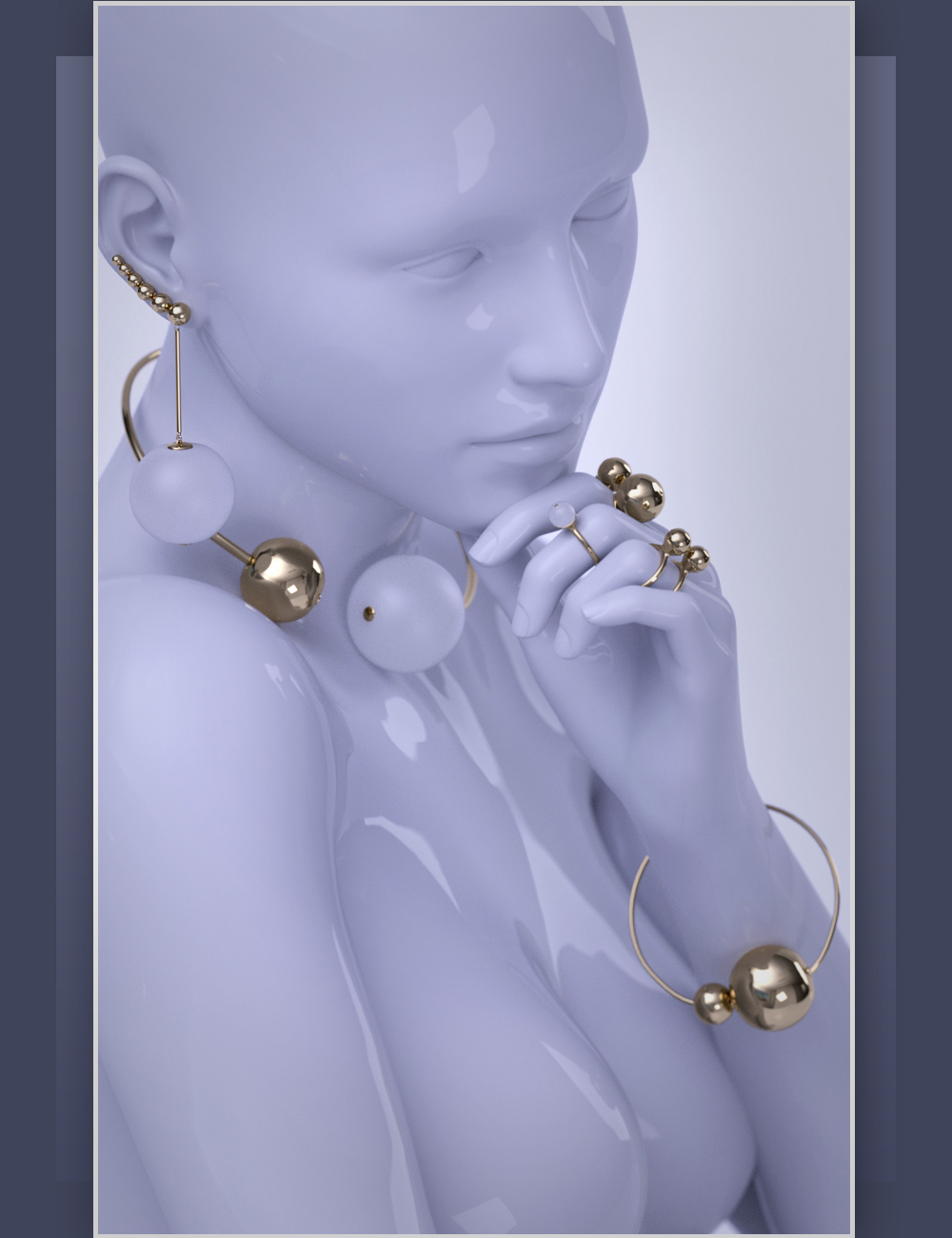 ES Sphaerae Jewelry Vol.1 for Genesis 3 Female(s) by: EyeStorm, 3D Models by Daz 3D