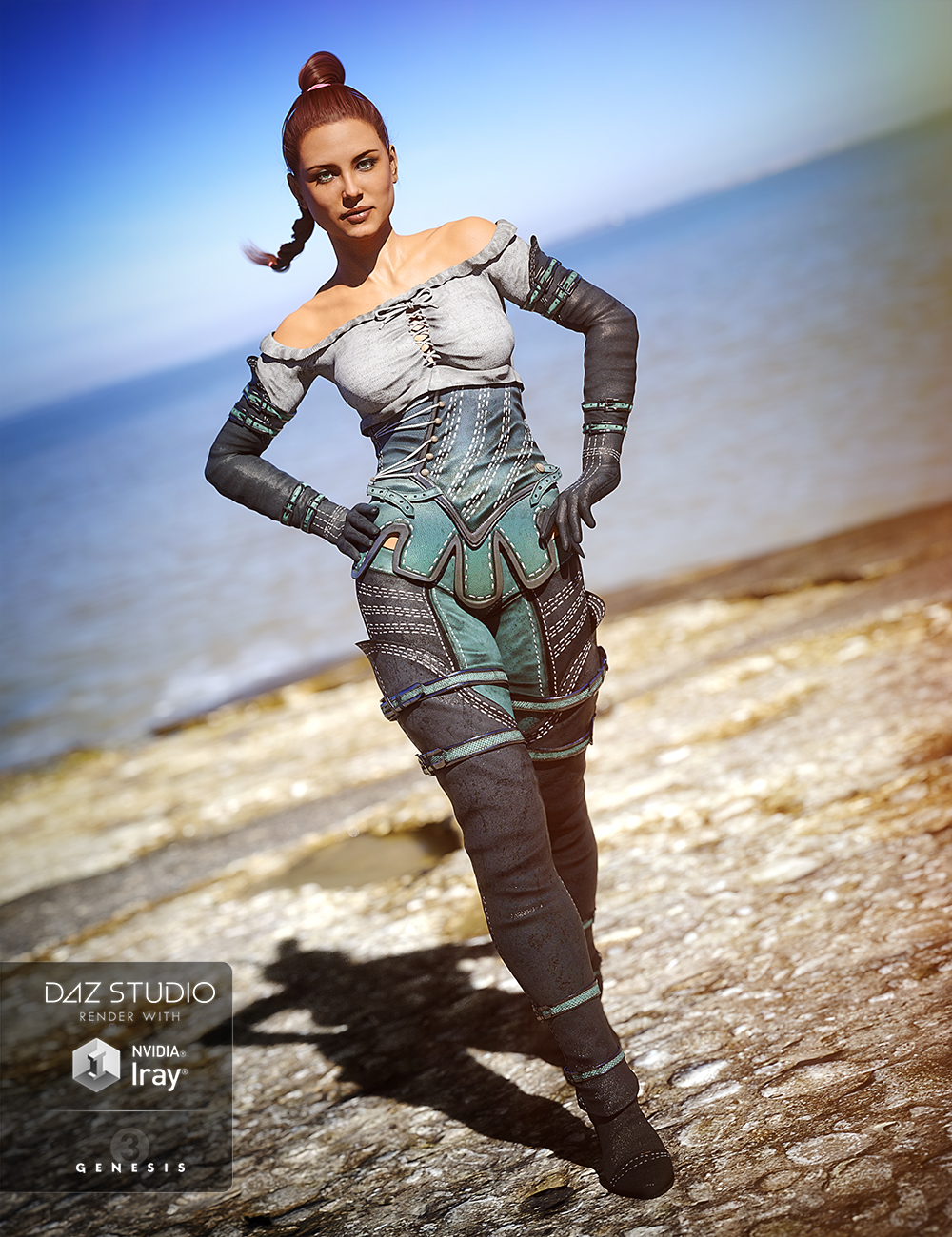 Knight Winds Outfit for Genesis 3 Female(s) by: Barbara BrundonLuthbellinaUmblefugly, 3D Models by Daz 3D