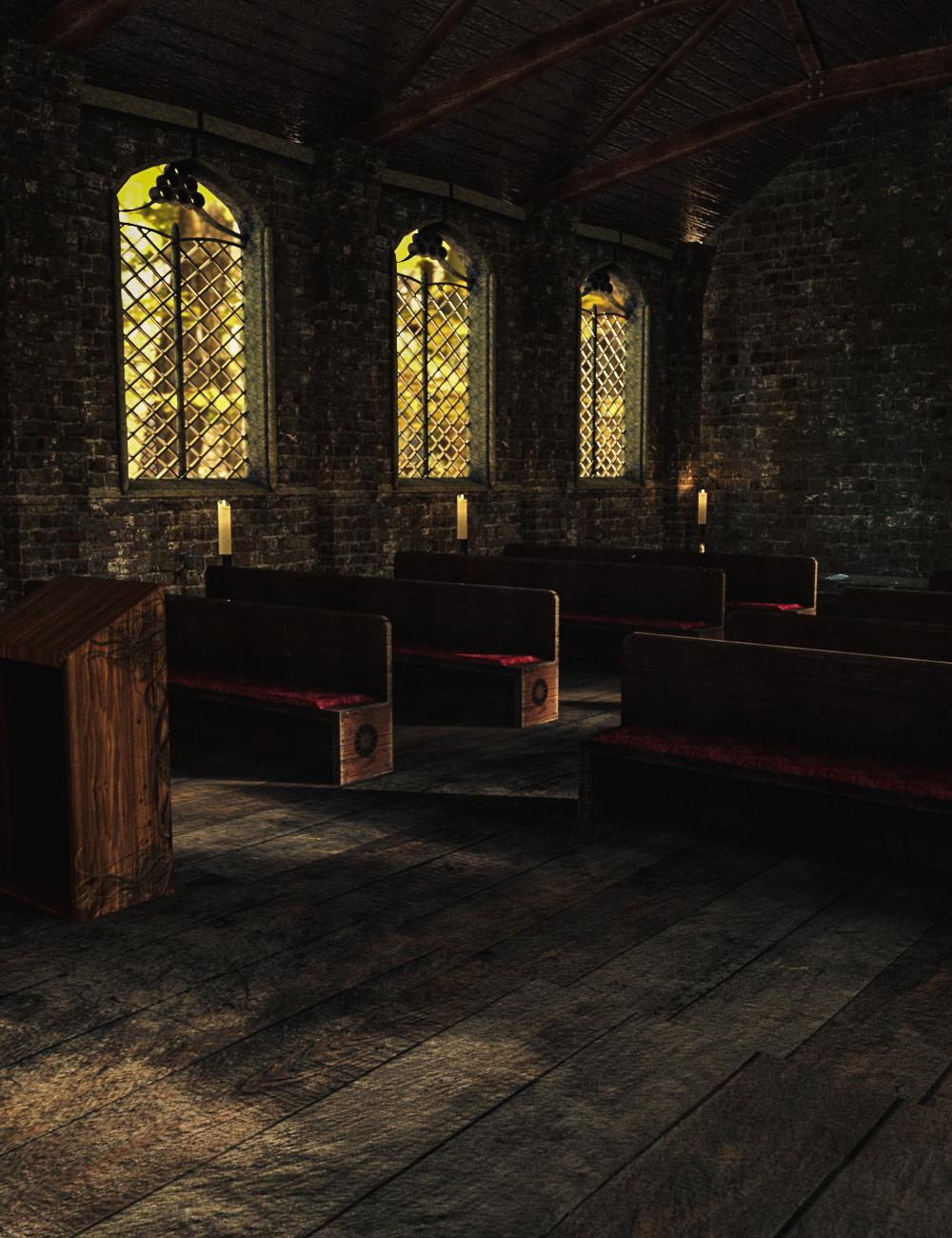 Old Chapel by: Serum, 3D Models by Daz 3D