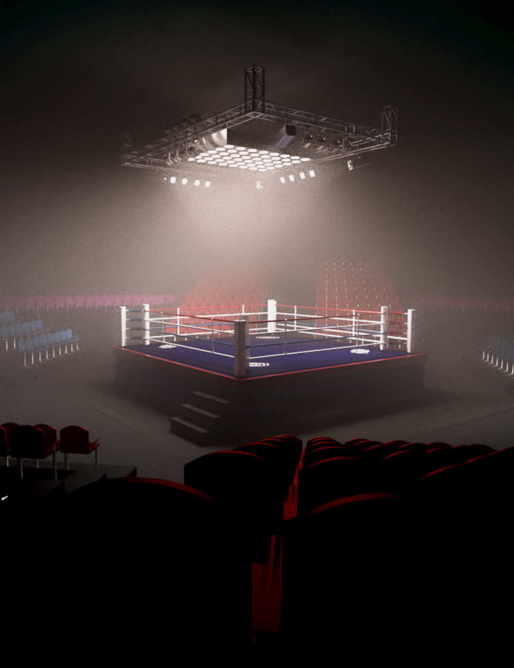 Boxing Arena by: Neikdian, 3D Models by Daz 3D