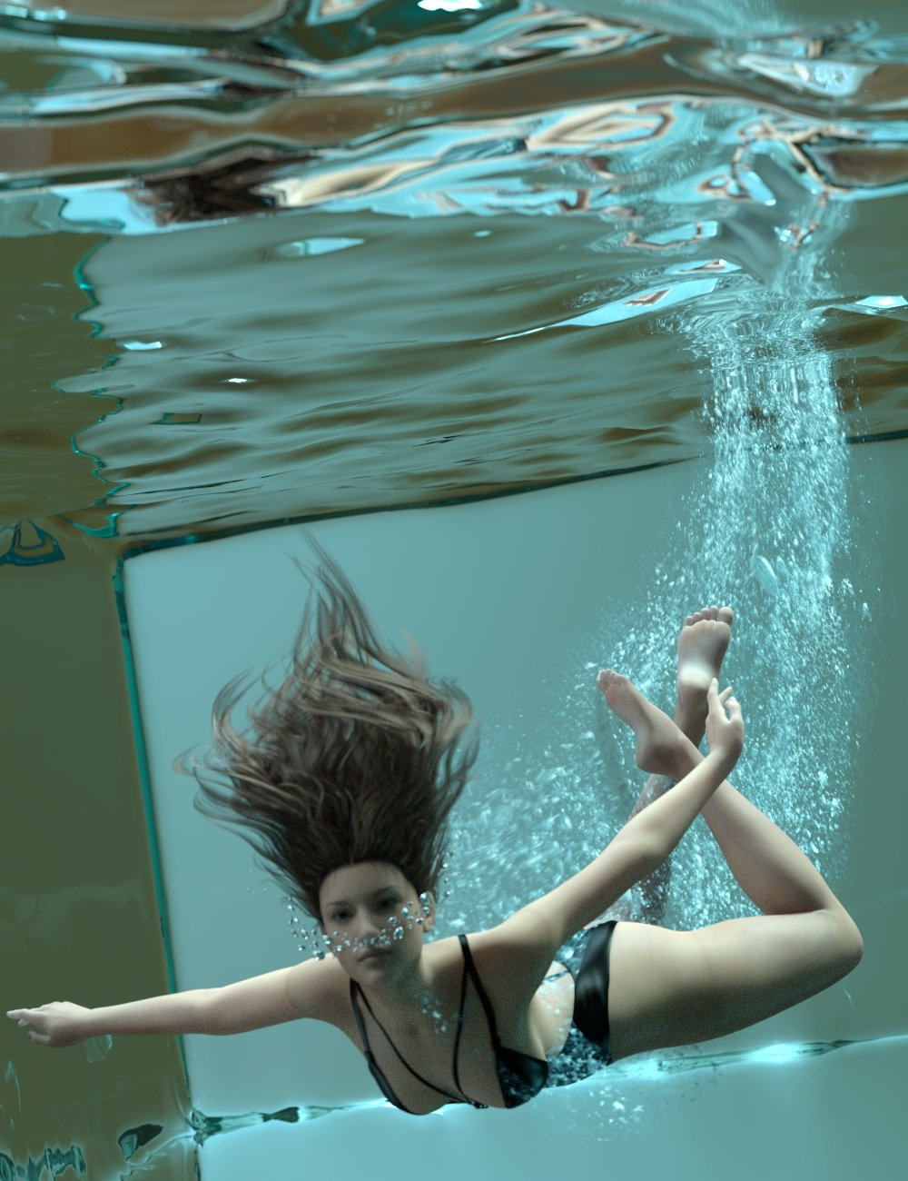 Rigged Water Iray 2 by: Sickleyield, 3D Models by Daz 3D