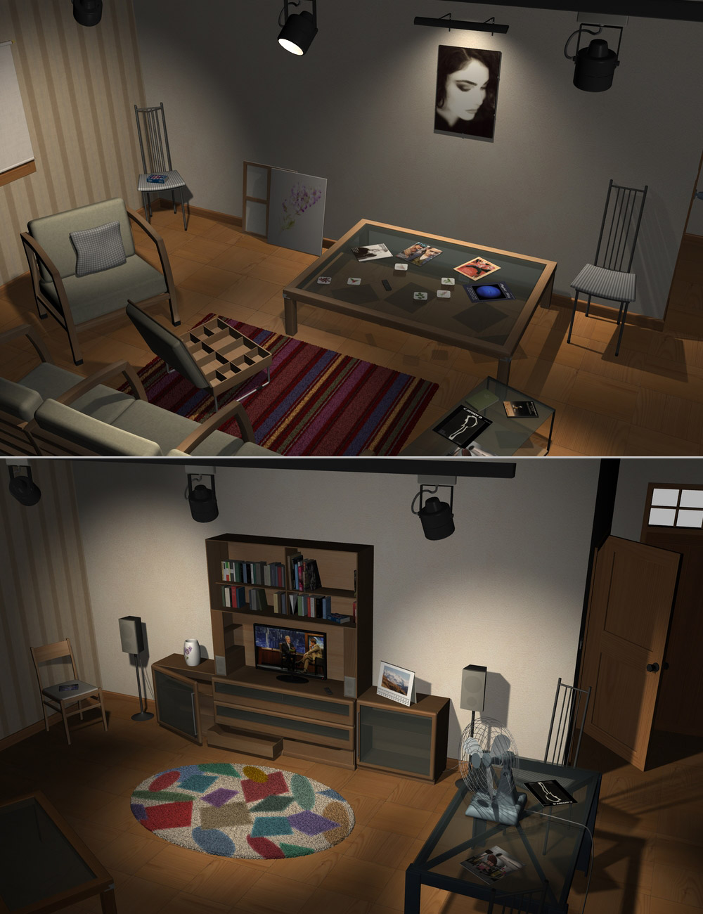 Home One Living-Room by: maclean, 3D Models by Daz 3D