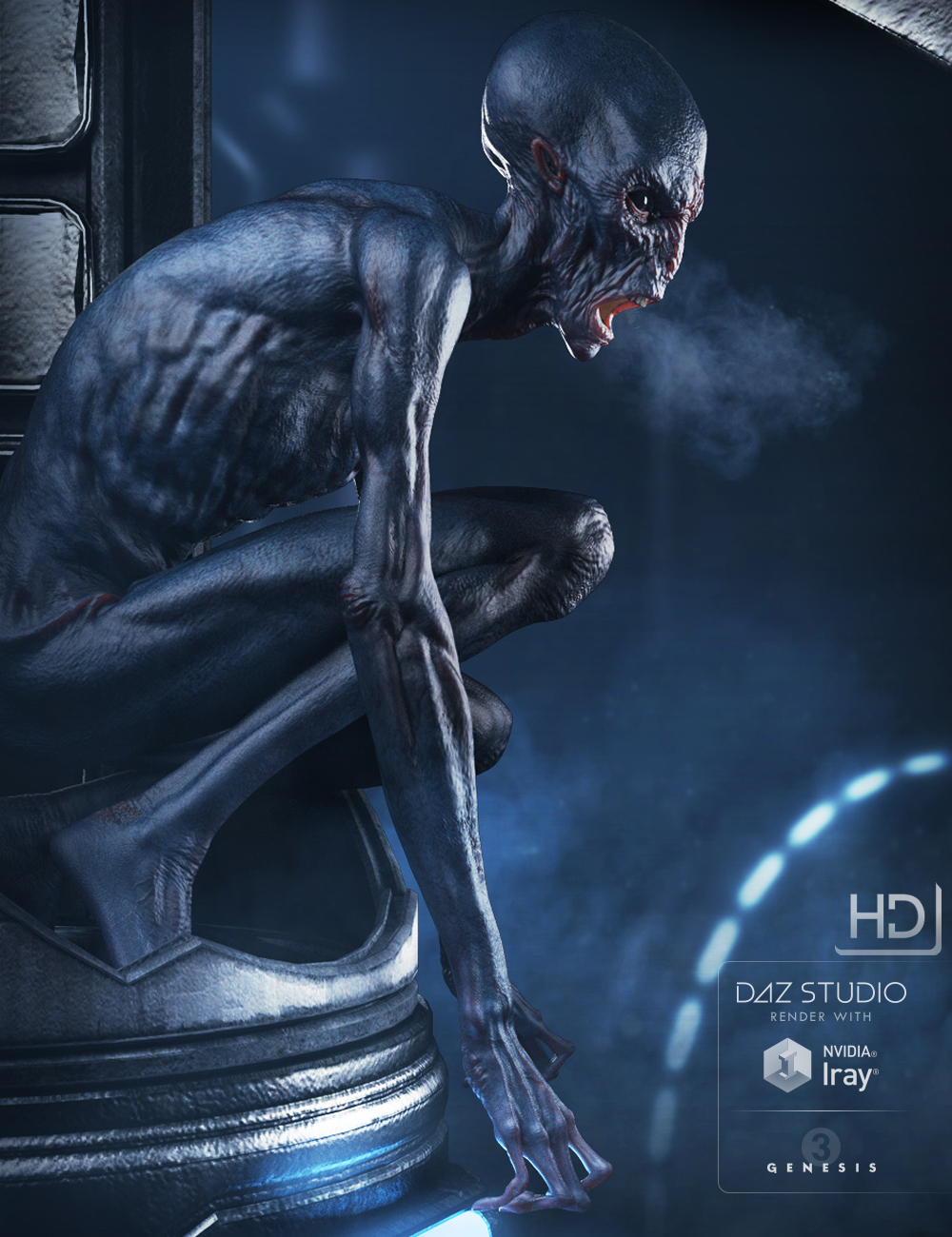 The Exile Alien HD for Genesis 3 Male by: , 3D Models by Daz 3D