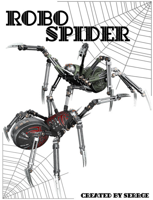 RoboSpider by: , 3D Models by Daz 3D