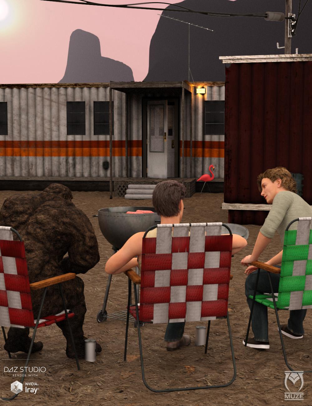 Flamingo Park Trailers by: Muze, 3D Models by Daz 3D
