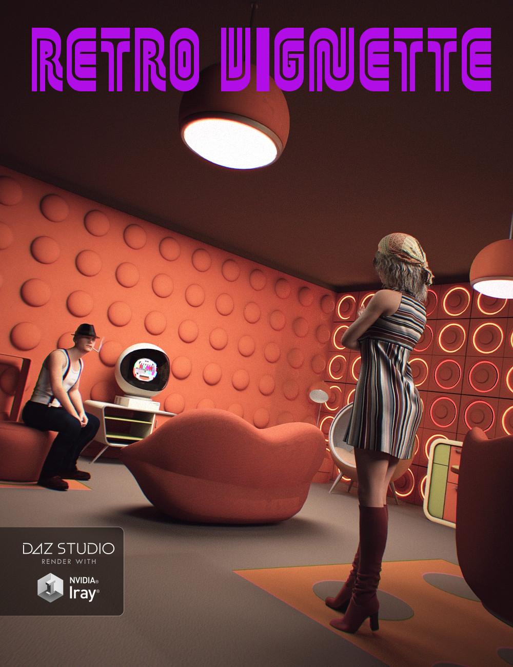 Retro Vignette by: Mely3D, 3D Models by Daz 3D