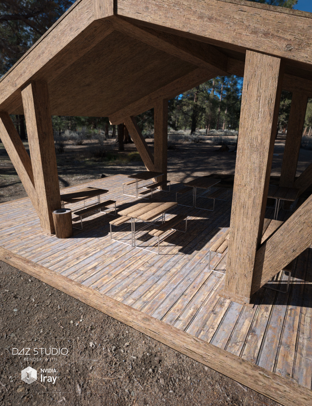 Picnic Area Exterior by: , 3D Models by Daz 3D