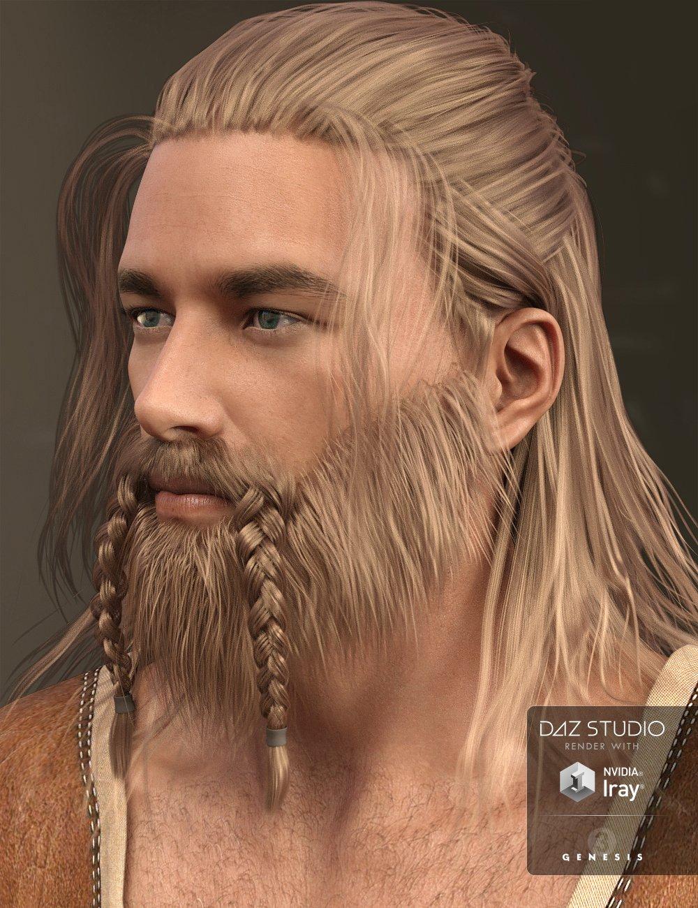 Adrian Hair and Beard for Genesis 3 Male(s) by: Kool, 3D Models by Daz 3D