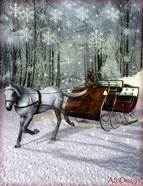 The Vintage Sleigh by: , 3D Models by Daz 3D