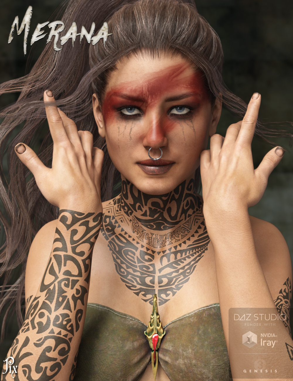 Pix Merana for Genesis 3 Female by: Pixelunashadownet, 3D Models by Daz 3D