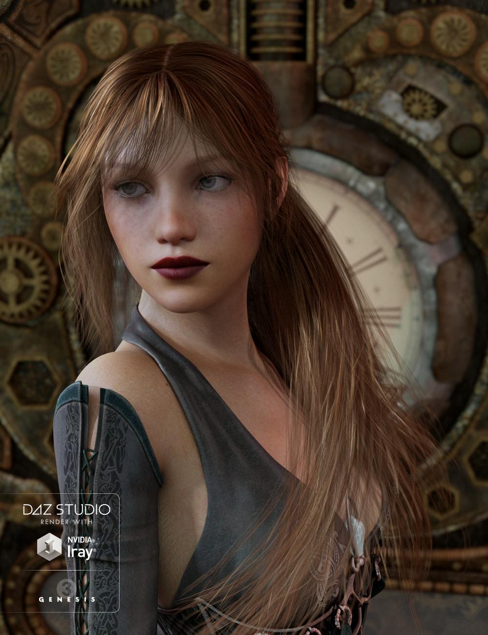 Dolly Changeable Hair for Genesis 3 Female(s) by: goldtassel, 3D Models by Daz 3D