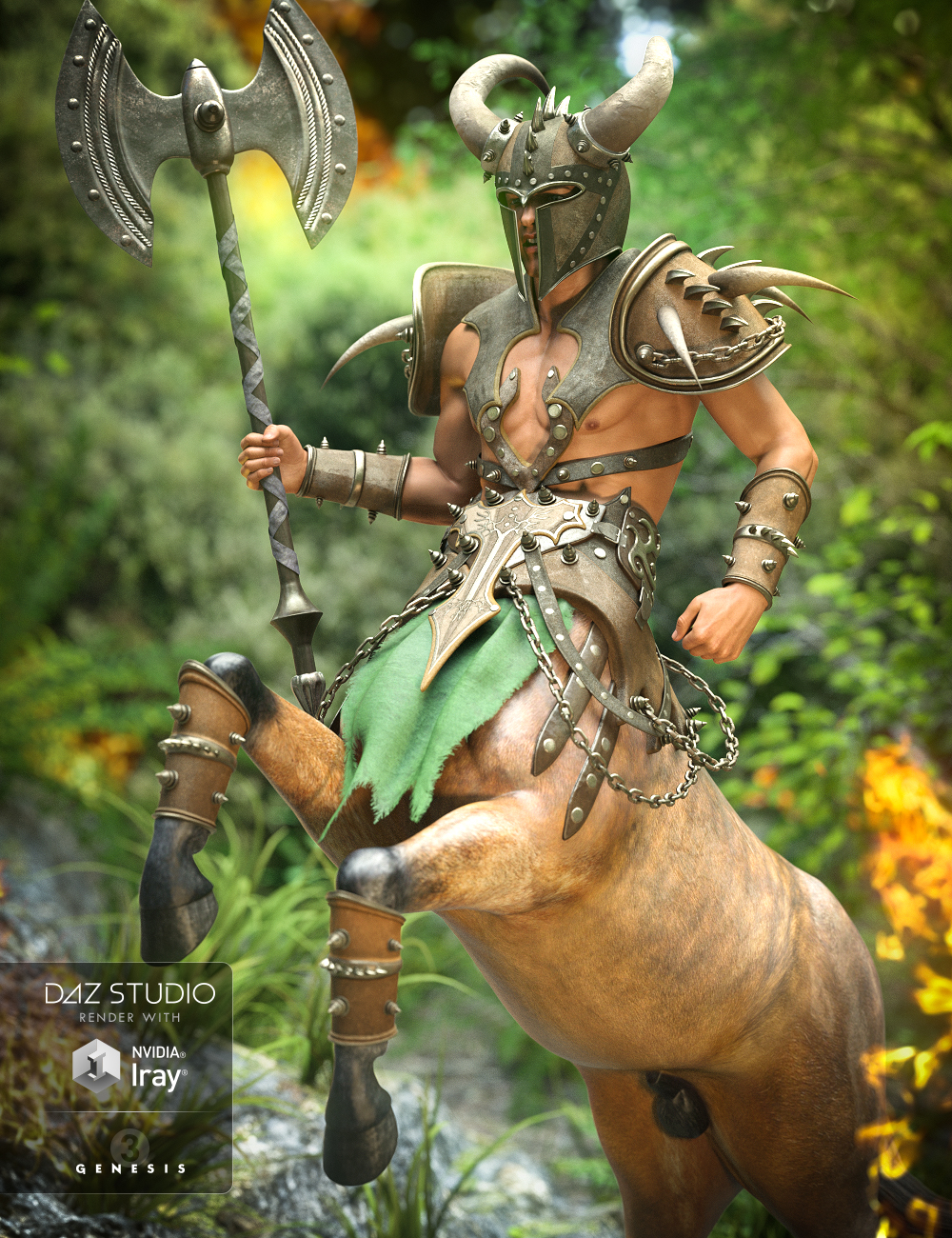 Ravager Centaur Outfit for Centaur 7 Male by: NikisatezLuthbellina, 3D Models by Daz 3D