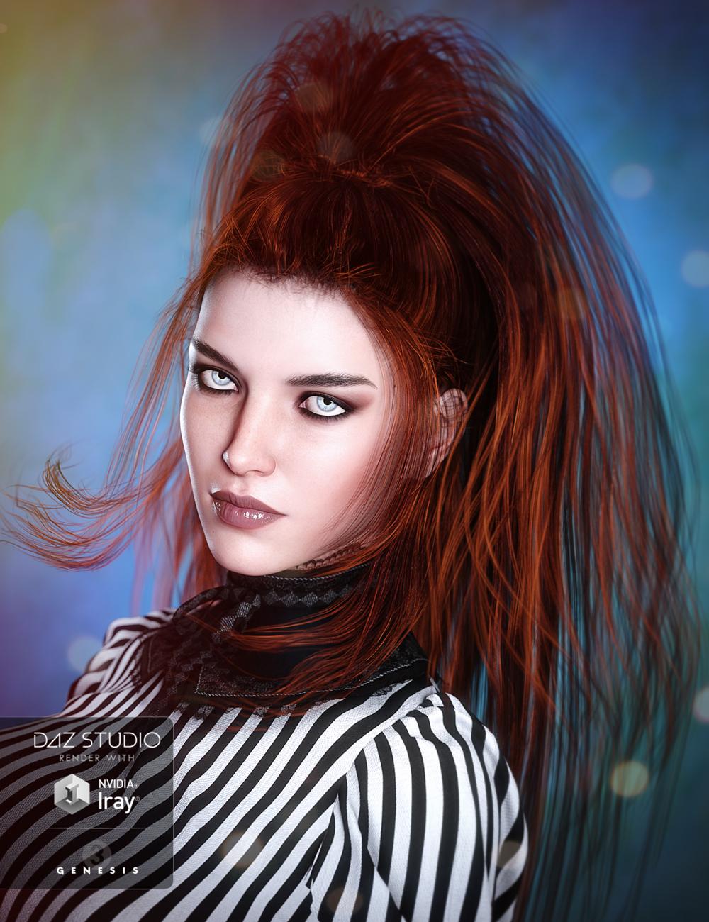 Twilight Hair for Genesis 3 Female(s) by: goldtassel, 3D Models by Daz 3D
