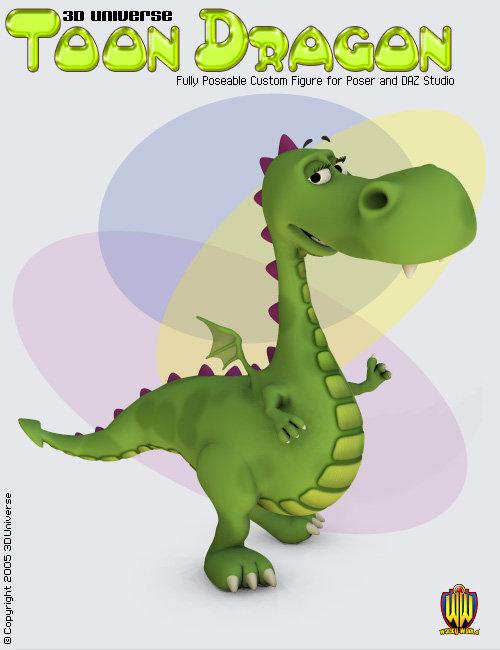 3D Universe - Toon Dragon by: 3D Universe, 3D Models by Daz 3D