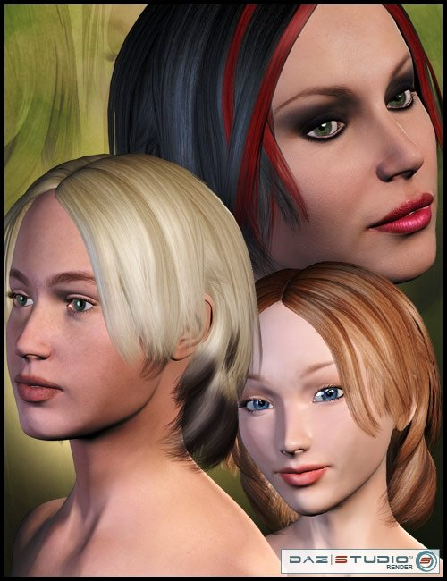 Chiko Hair by: Lisbeth N, 3D Models by Daz 3D