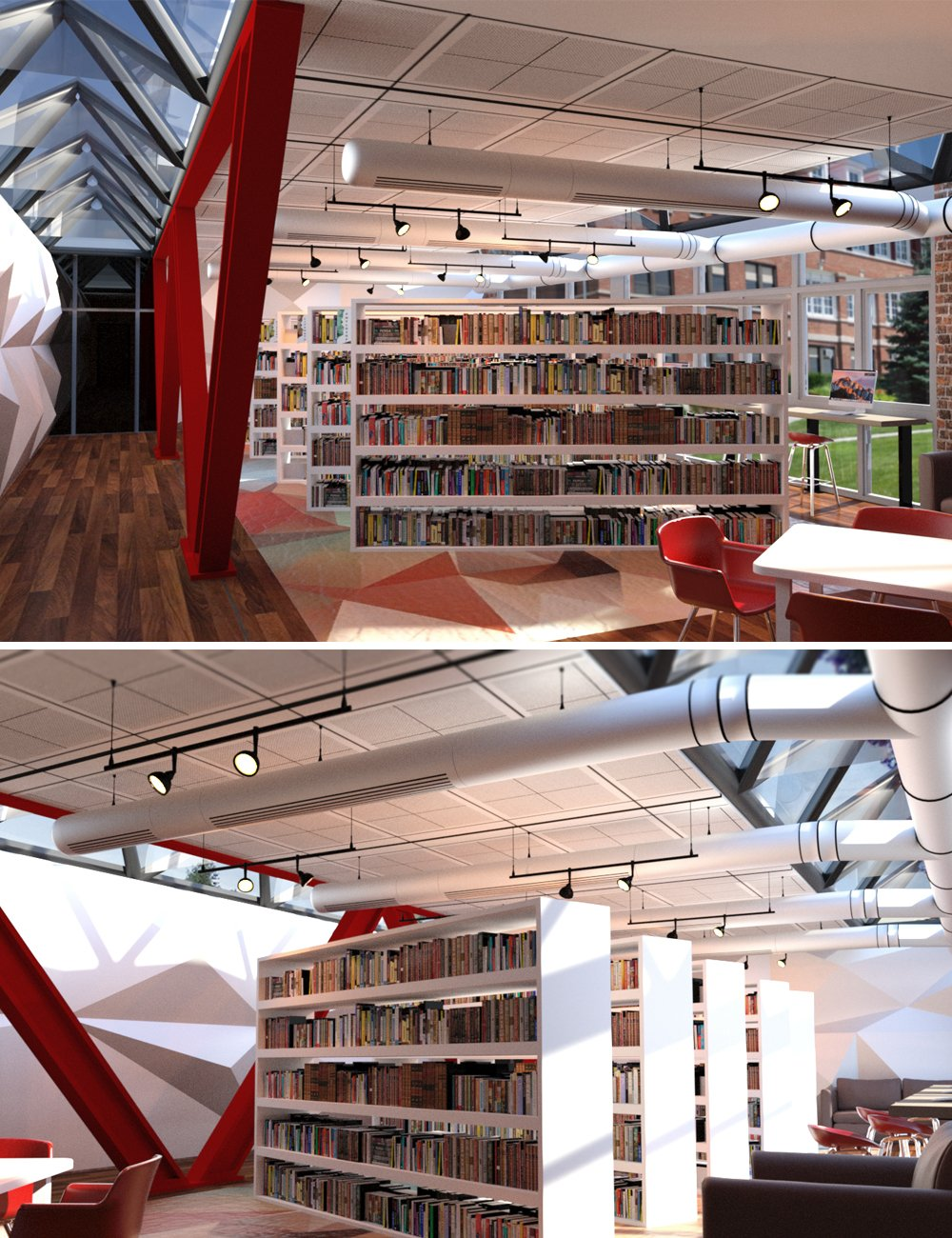 Campus Library by: Digitallab3D, 3D Models by Daz 3D