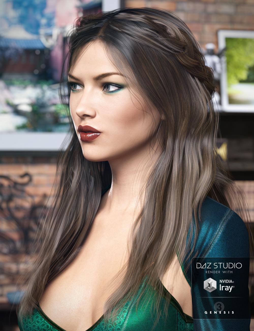 Colony Hair for Genesis 3 Female(s) by: goldtassel, 3D Models by Daz 3D