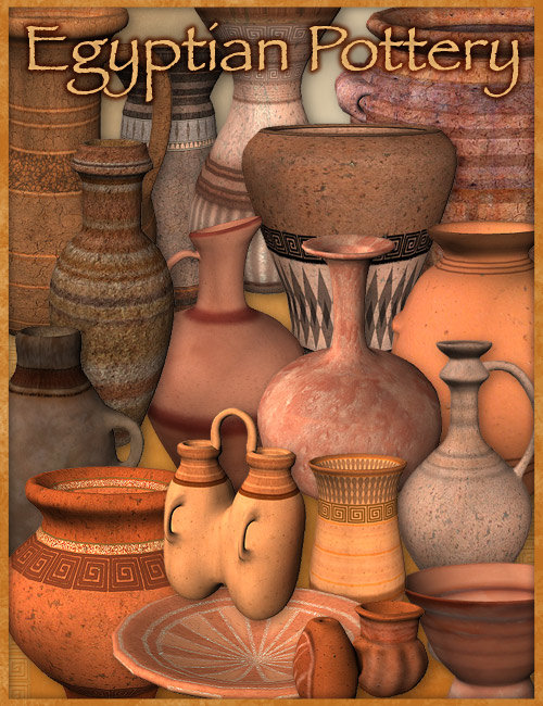 Egyptian Pottery by: , 3D Models by Daz 3D