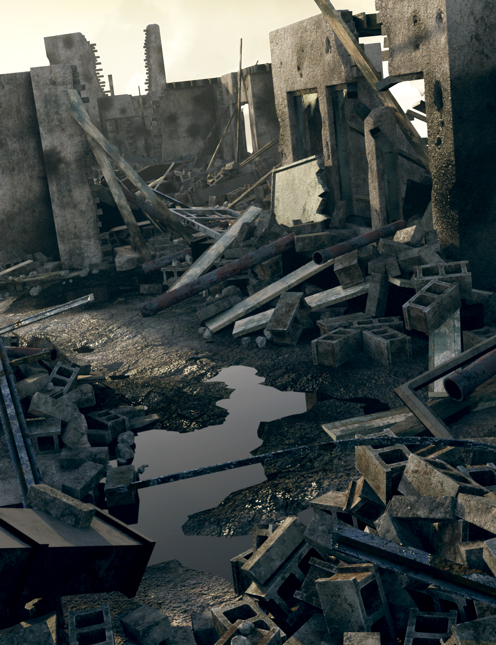 Modular Destruction by: The DigiVault, 3D Models by Daz 3D