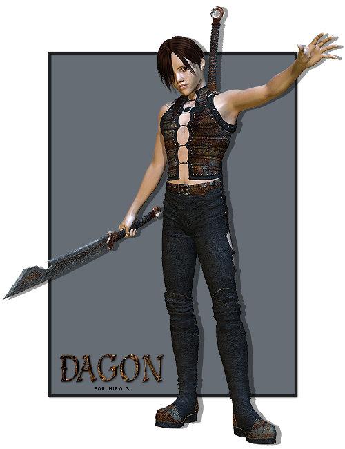 Dagon for Hiro by: Anna BenjaminElorOnceDark, 3D Models by Daz 3D