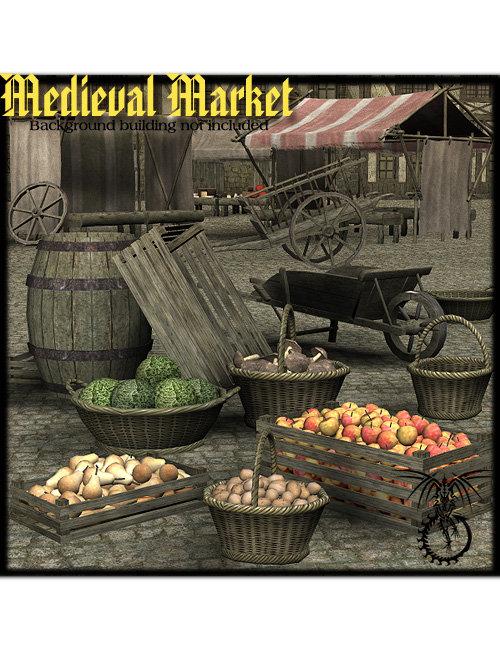 Medieval Market by: Faveral, 3D Models by Daz 3D