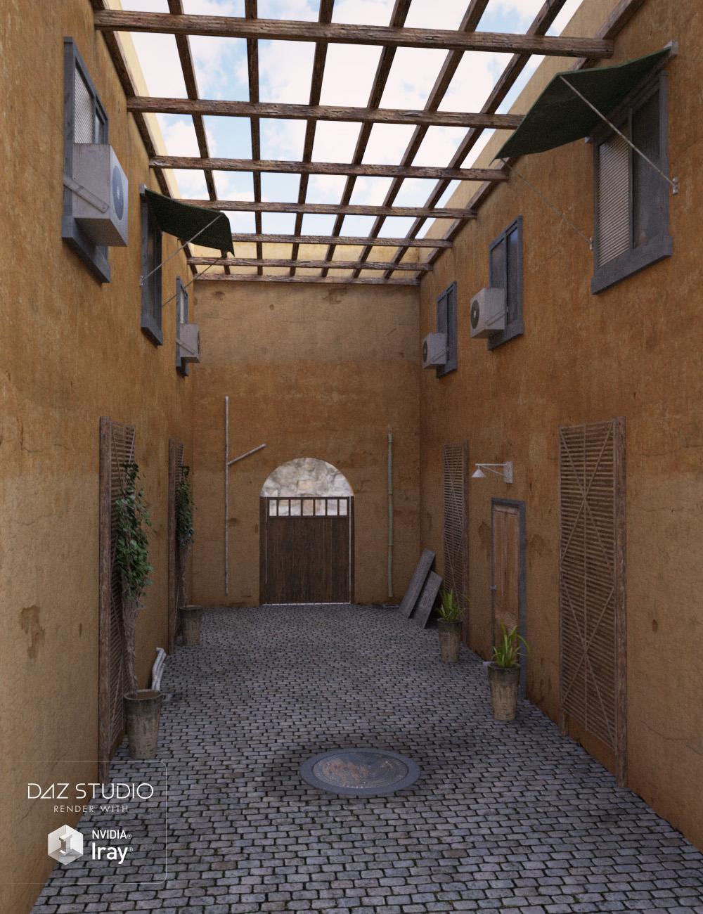 Alley Scene by: , 3D Models by Daz 3D