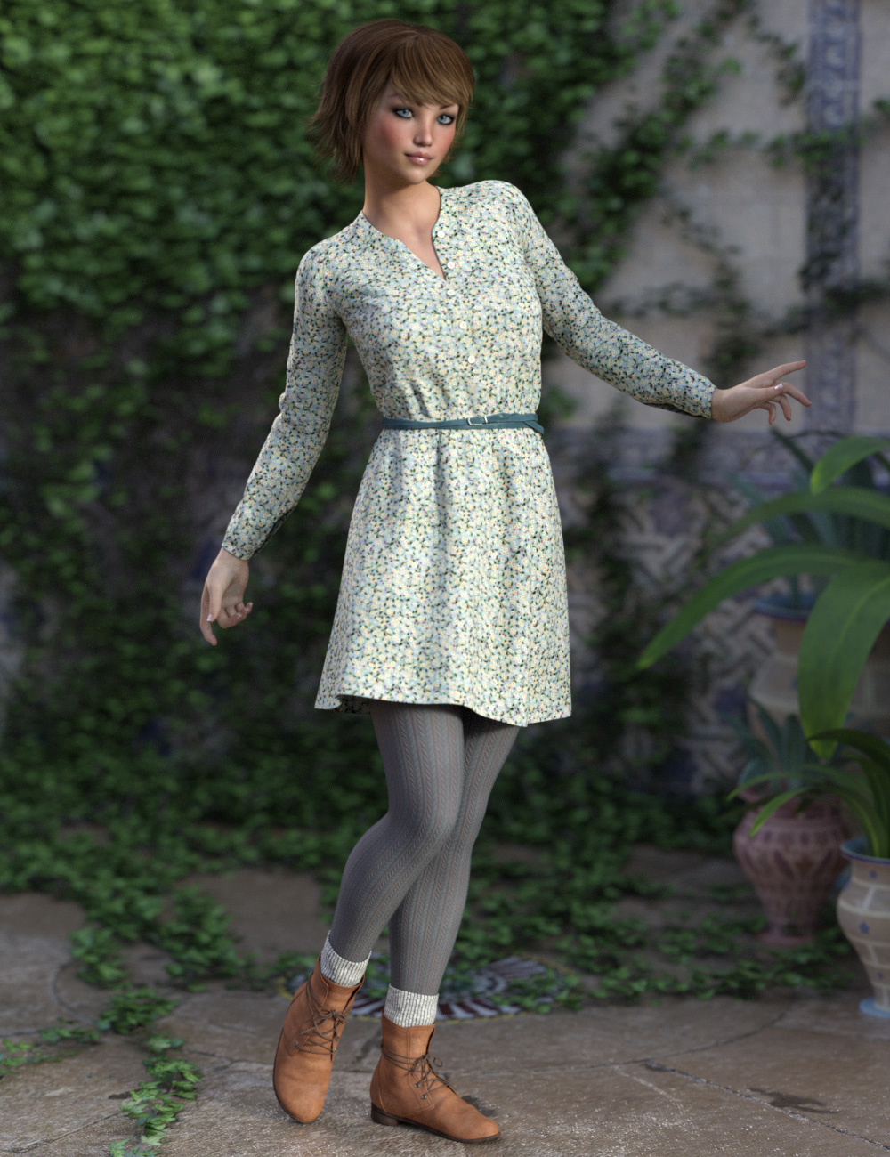 Cool Spring Outfit for Genesis 3 Female(s) by: esha, 3D Models by Daz 3D