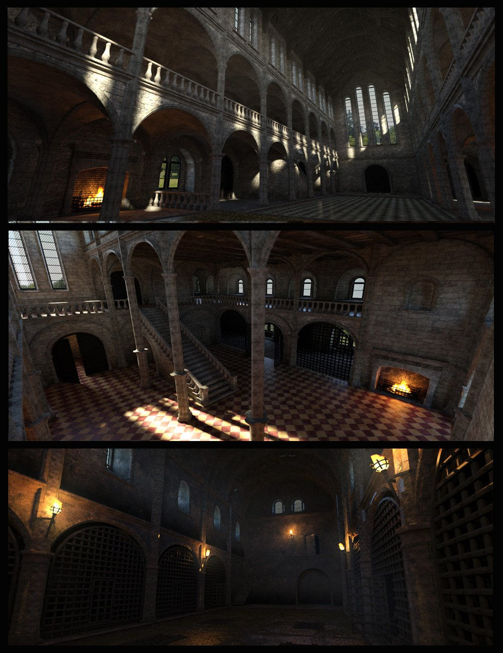 MICK (Medieval Interior Construction Kit) by: Faveral, 3D Models by Daz 3D
