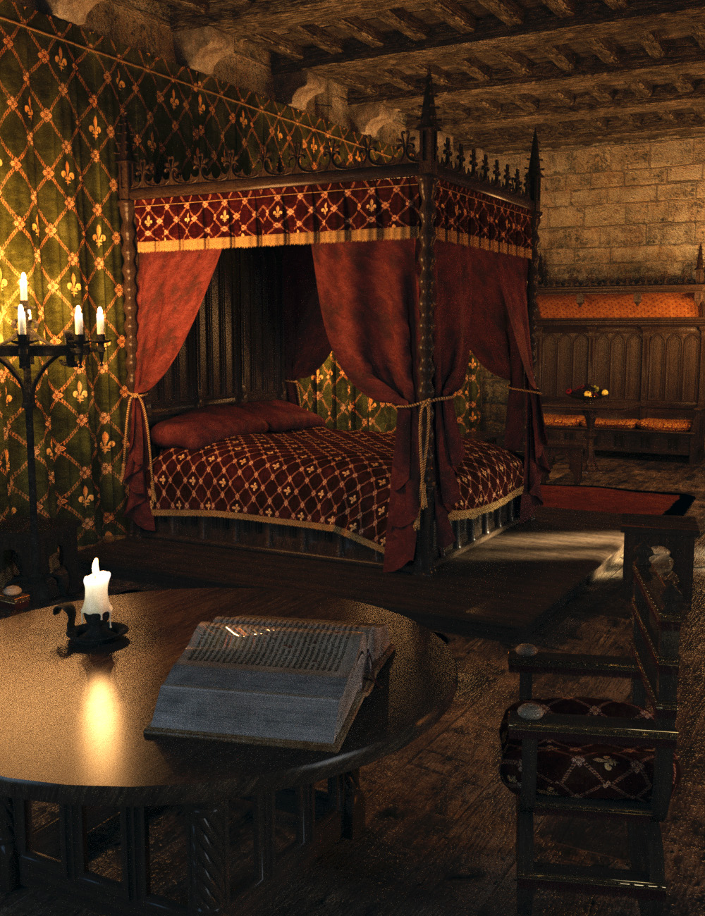 MICK-Bedroom by: Faveral, 3D Models by Daz 3D