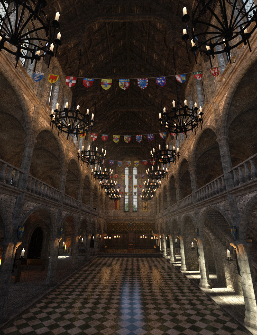 MICK-Great Hall by: Faveral, 3D Models by Daz 3D