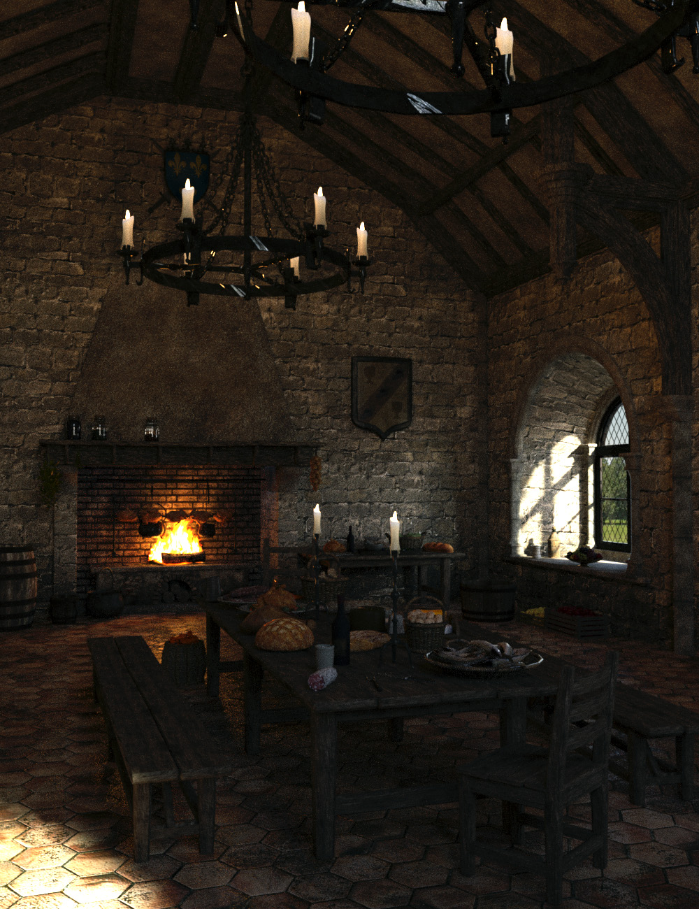 MICK-Kitchen by: Faveral, 3D Models by Daz 3D