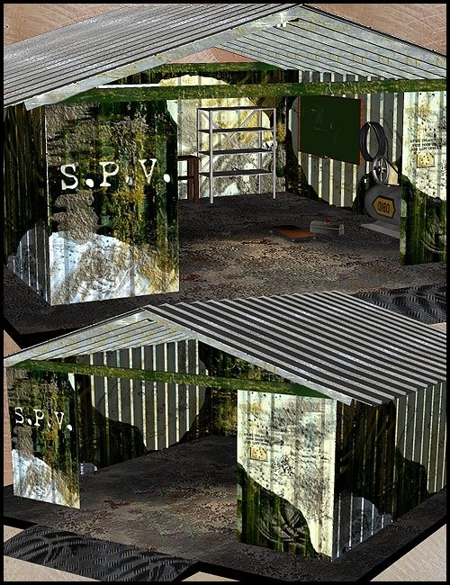 S.P.V. Garage by: LesthatVal3dart, 3D Models by Daz 3D