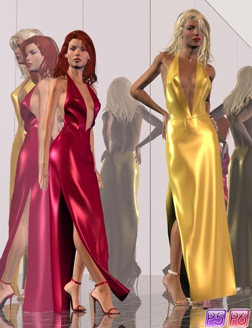 Dynamic Glamour: Halter Gown Set for IV & GV by: Jim Burton, 3D Models by Daz 3D
