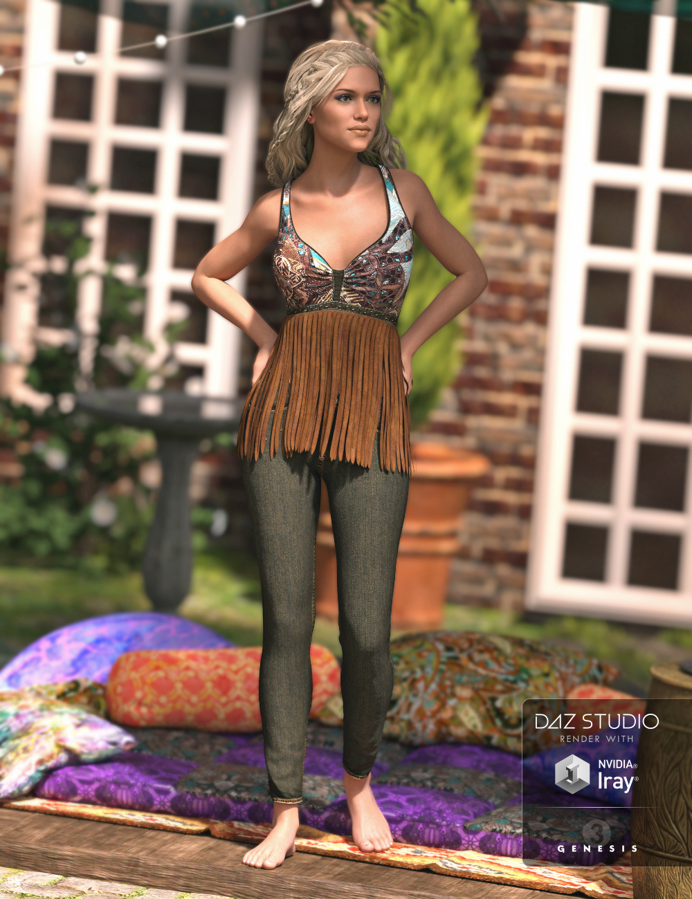 Fringed by: Sarsa, 3D Models by Daz 3D