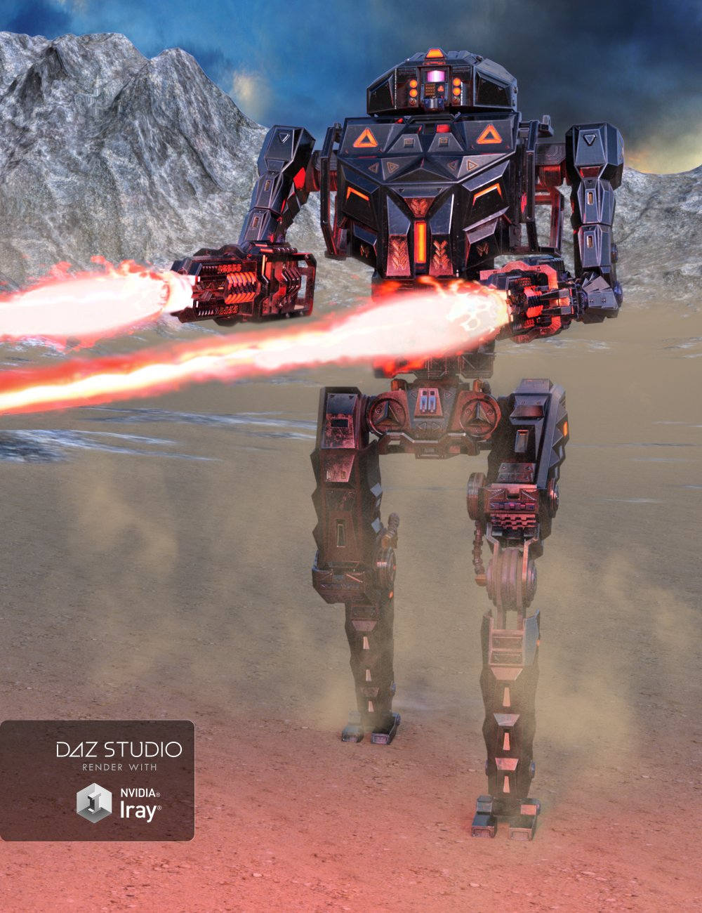 Dominator Robot by: petipet, 3D Models by Daz 3D