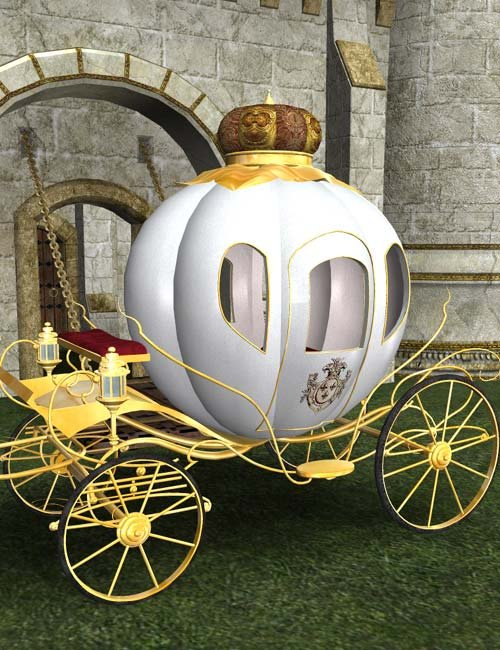 Cinderella Carriage by: IsauraS, 3D Models by Daz 3D