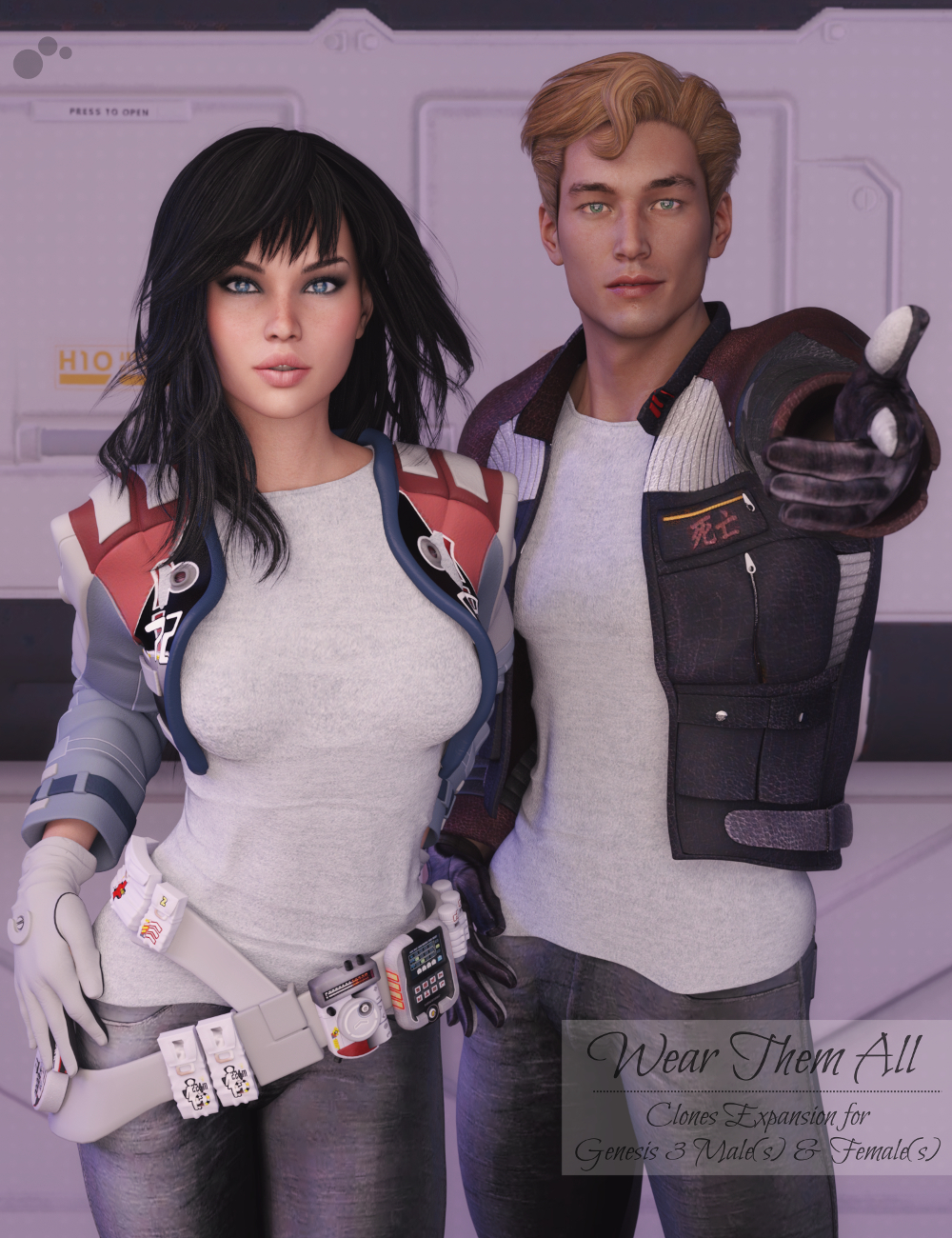 Wear Them All - Autofit Clones Expansion for Genesis 3 Male(s) and Genesis 3 Female(s) by: valzheimer, 3D Models by Daz 3D