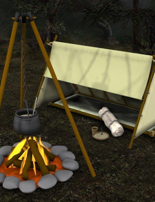 Traveler Props Pack by: , 3D Models by Daz 3D
