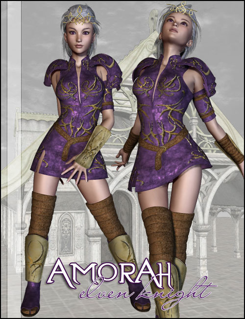 Amorah Elven Knight by: LesthatVal3dart, 3D Models by Daz 3D