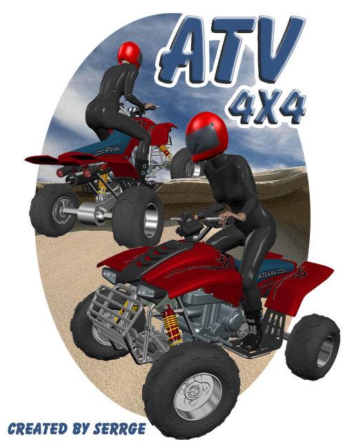 ATV 4x4 by: , 3D Models by Daz 3D