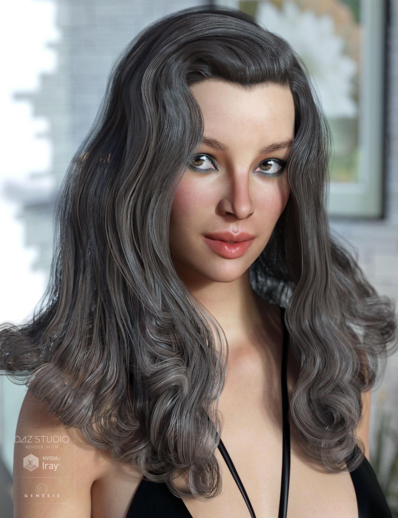 Fane Hair for Genesis 3 Female(s) by: AprilYSH, 3D Models by Daz 3D