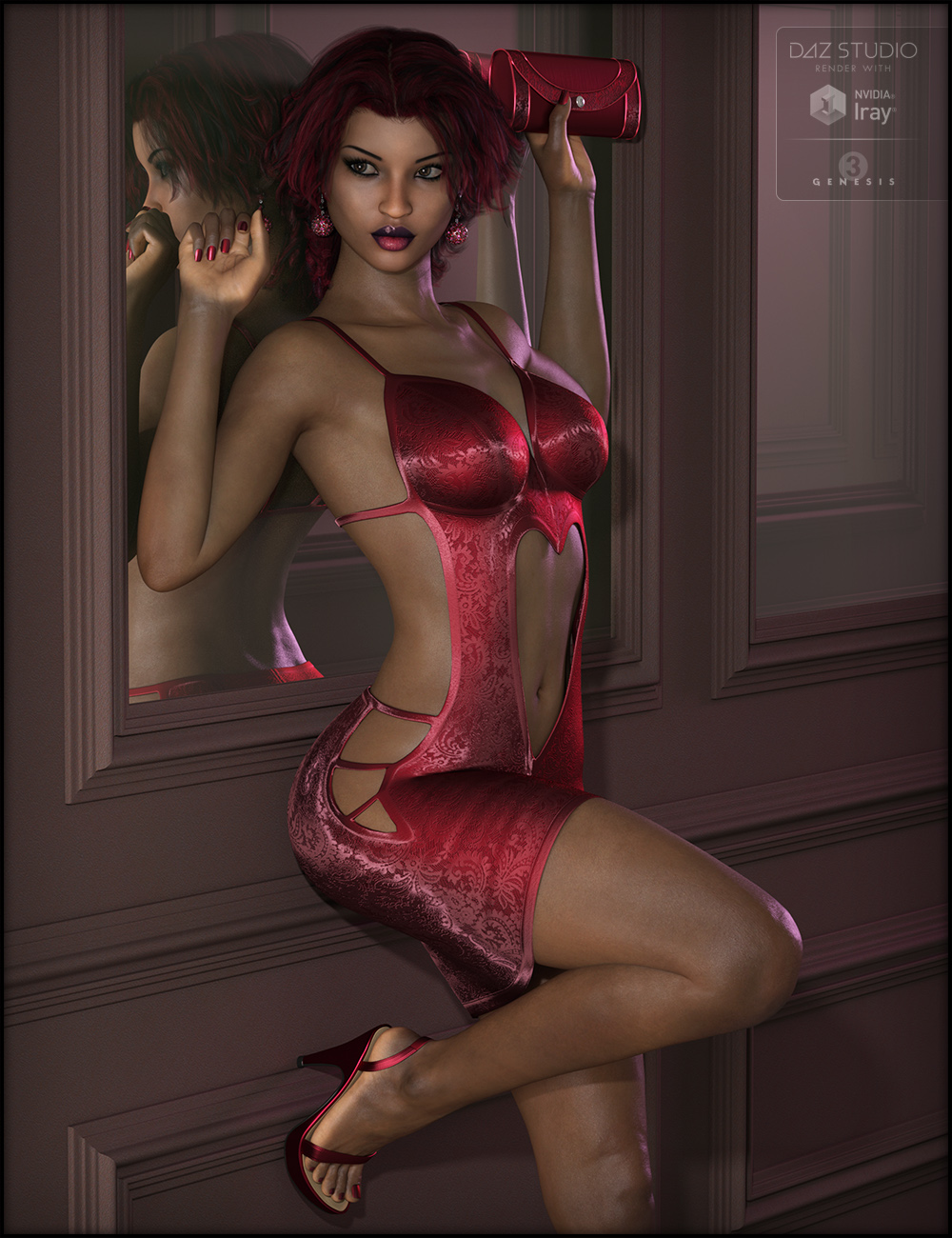 Have a Heart Outfit for Genesis 3 Female(s) by: Fisty & Darc, 3D Models by Daz 3D