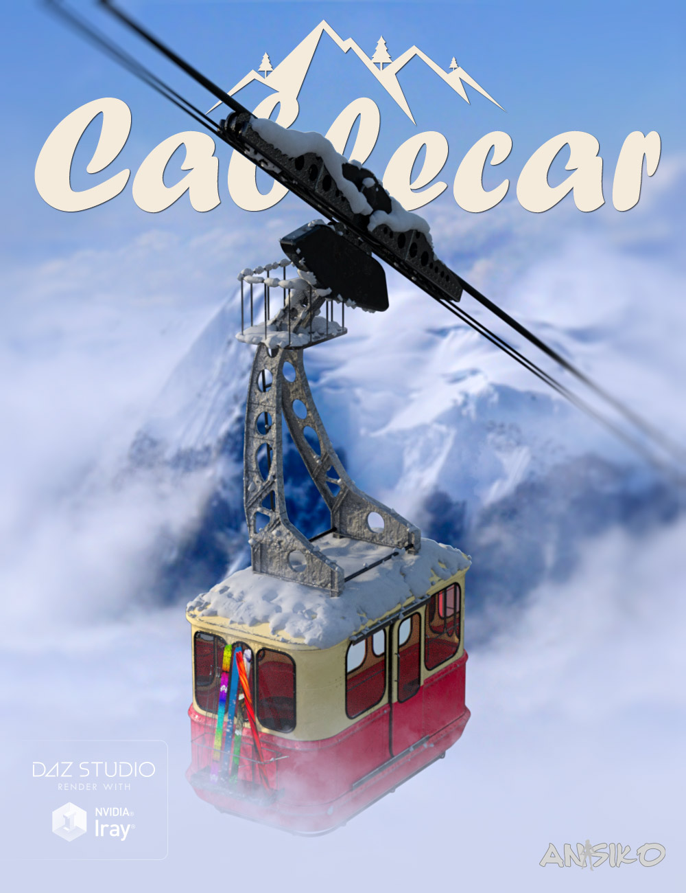 Cable Car by: Ansiko, 3D Models by Daz 3D
