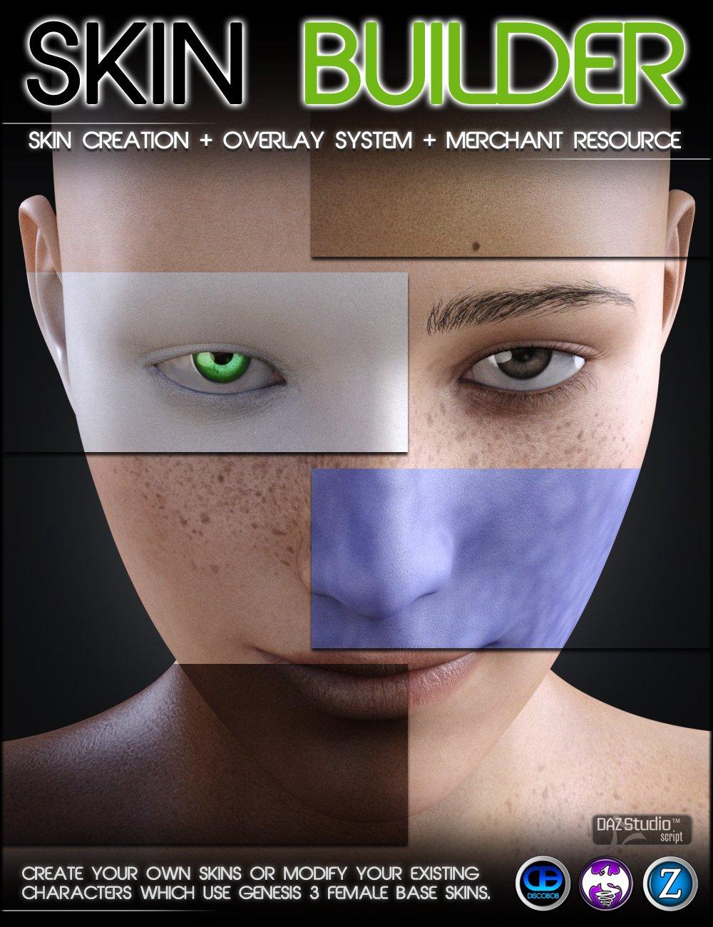 Skin Builder 3 for Genesis 3 Female(s) by: DiscobobDraagonStormZev0, 3D Models by Daz 3D