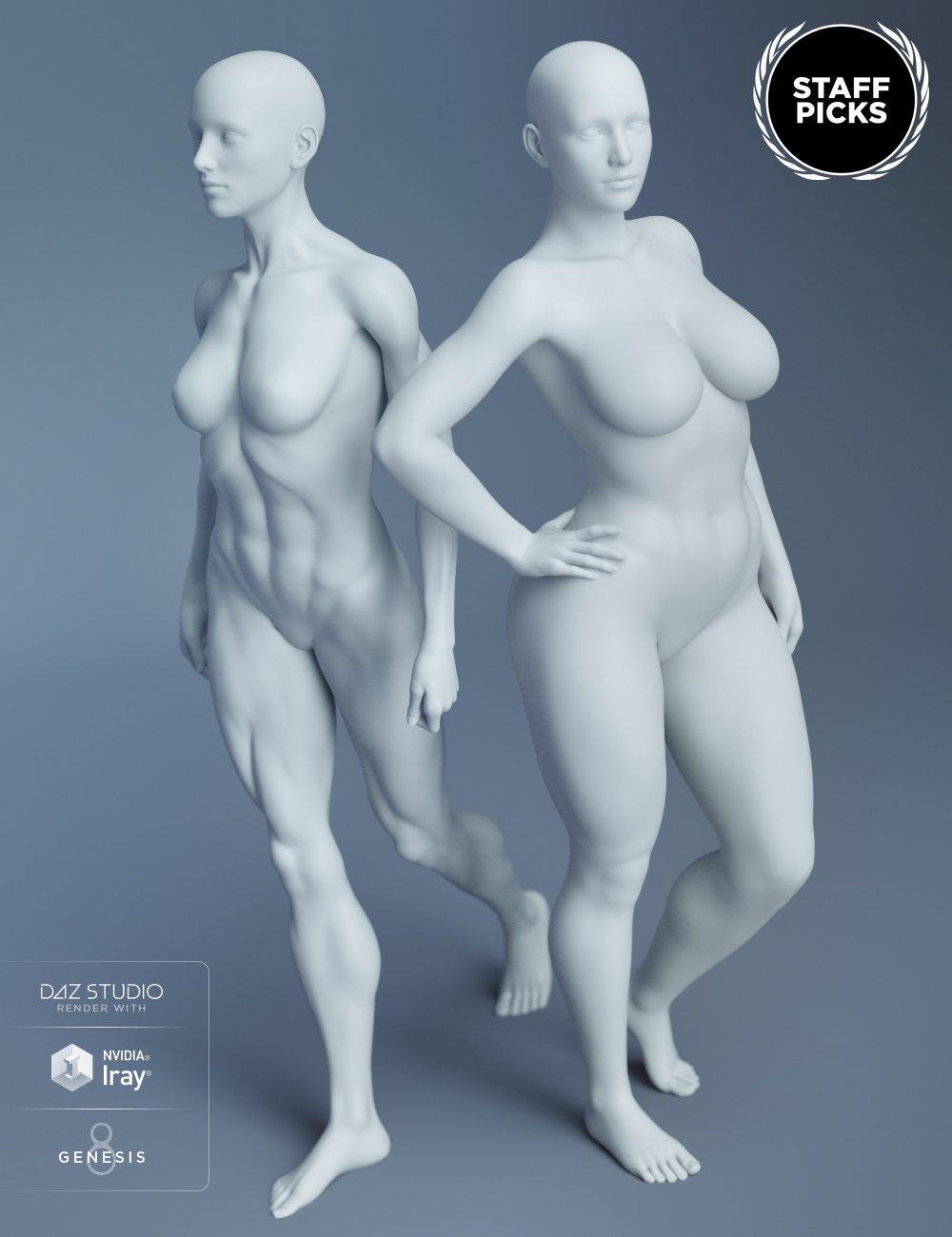 Genesis 8 Female Body Morphs by: , 3D Models by Daz 3D