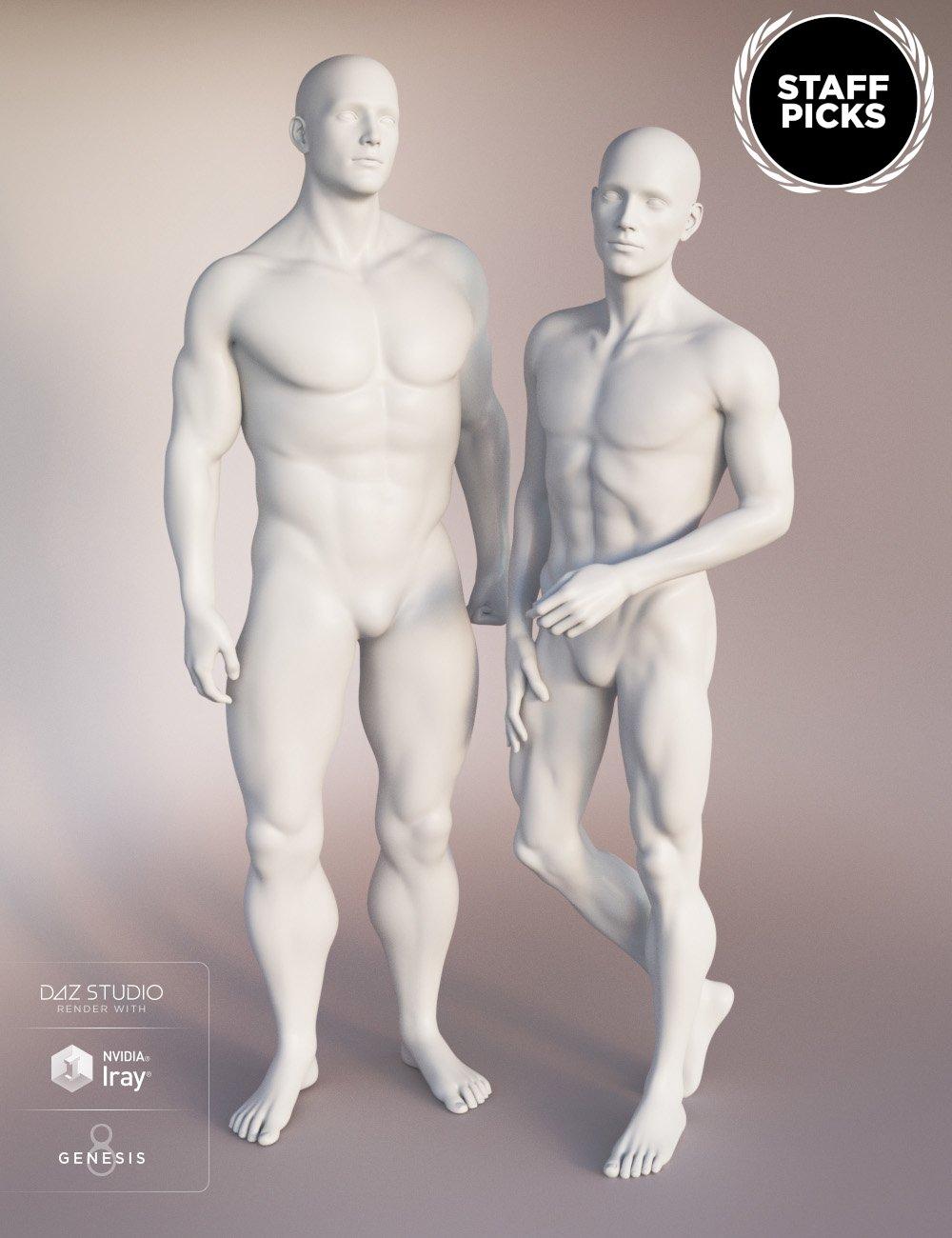 Genesis 8 Male Body Morphs by: , 3D Models by Daz 3D