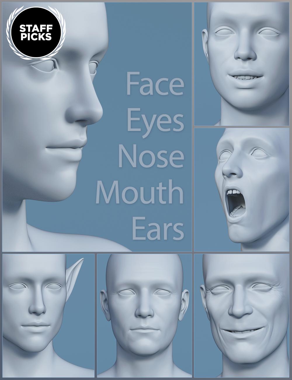 Genesis 8 Male Head Morphs by: , 3D Models by Daz 3D