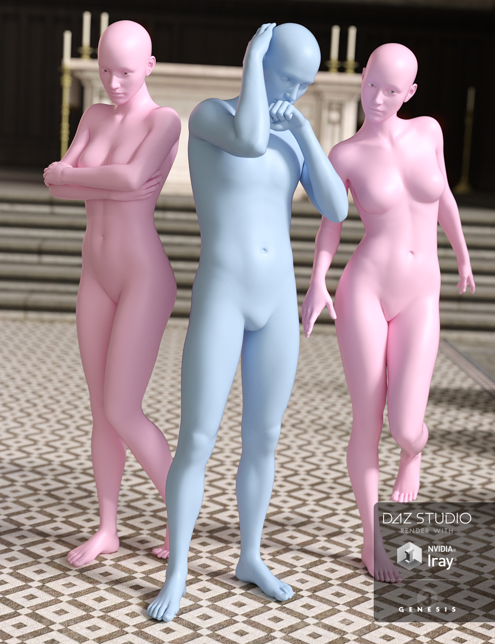 Who Done It Sacrament Poses for Genesis 3 by: DianePredatron, 3D Models by Daz 3D