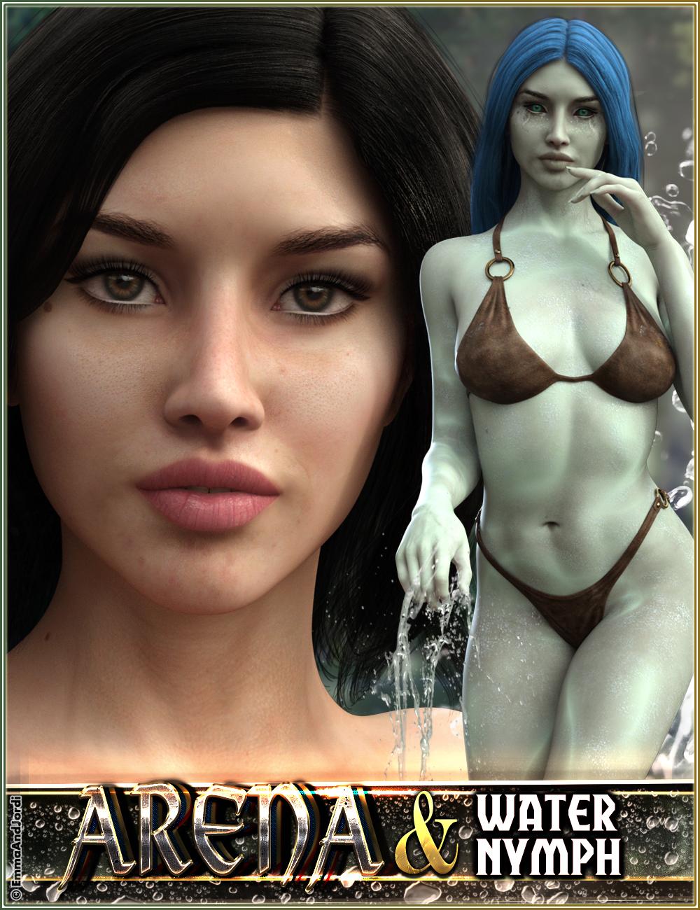 EJ Arena and Water Nymph for Genesis 3 Female by: EmmaAndJordi, 3D Models by Daz 3D