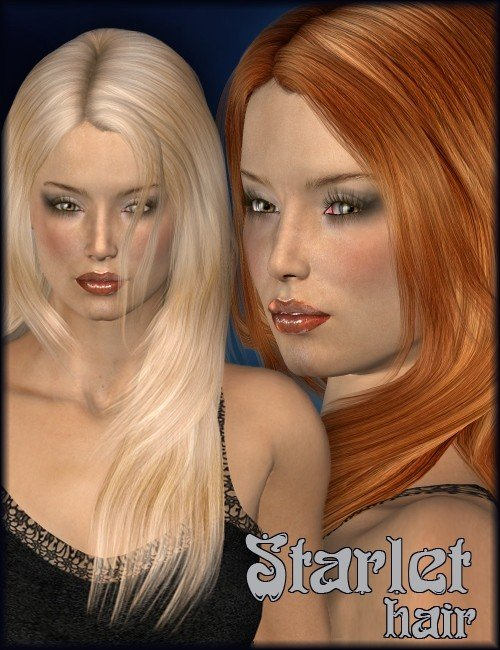 Starlet Hair by: Lisbeth N, 3D Models by Daz 3D